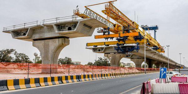 Building highway bridge